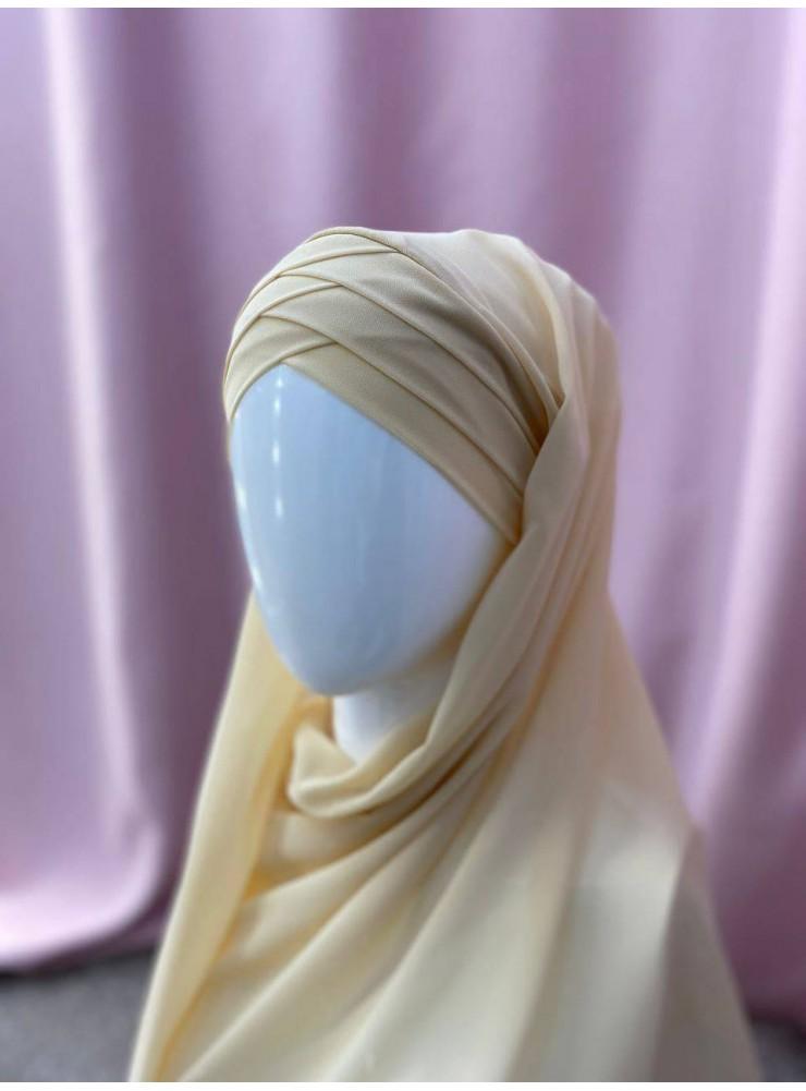 Готовый платок бежевый