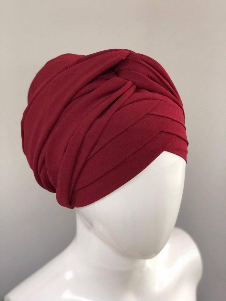 Готовый платок бордовый