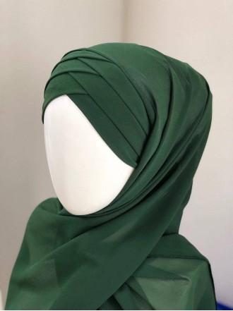 Готовый платок зелёный