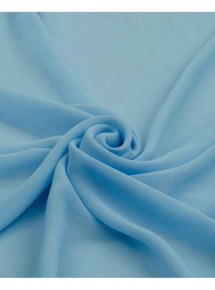 Палантин шарф шифон платок голубой