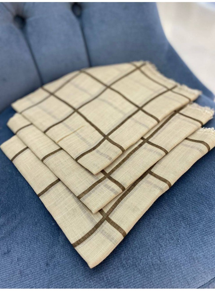 Турецкий качественный платок 100% хлопок 98x98 см №4