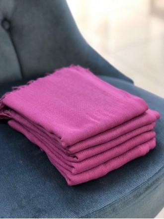 Палантин из пашмины фиолетовый