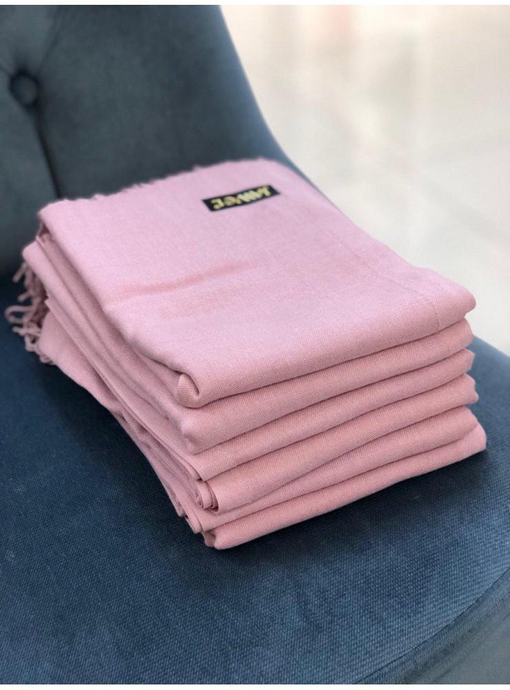 Палантин из пашмины бледно-розовый