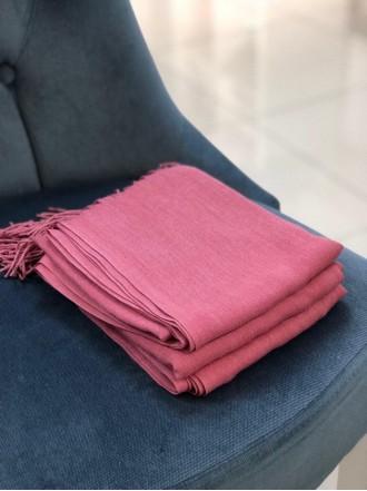 Палантин из пашмины розовый