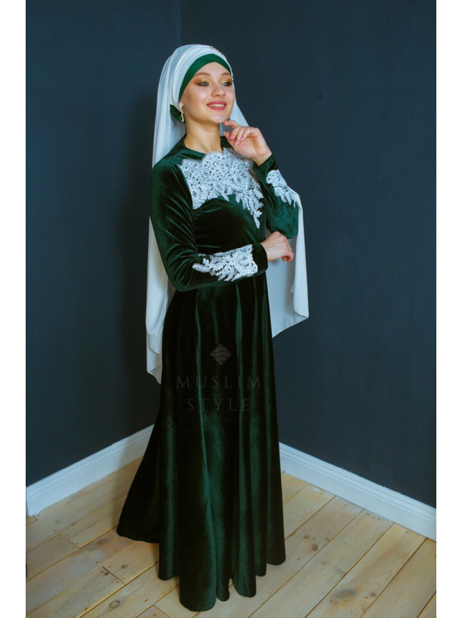 Платье «Жасмин» изумруд