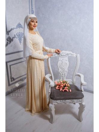 Платье «Жемчуг» в молочном