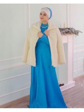 """Платье """"Жаккард"""" голубое"""