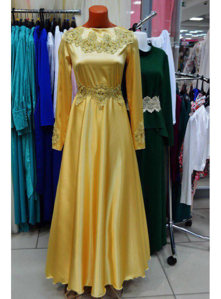 Платье «Абелин» в золотом