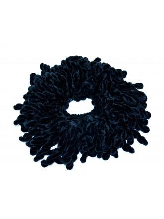 Резинка для объема волос черная