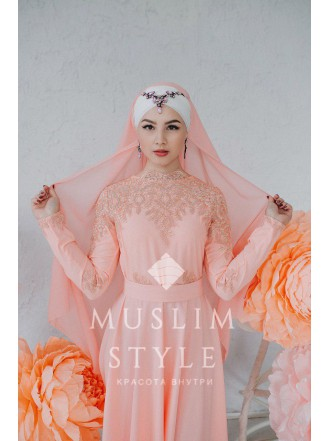 """Платье """"Жасмин"""" персик"""