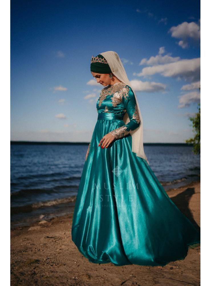 "Платье ""Ева"" изумруд"