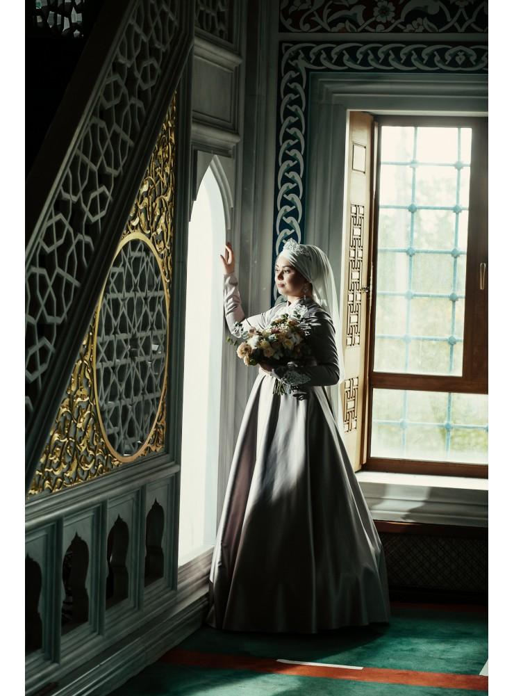 "Платье ""Нармин"" с белым кружевом"