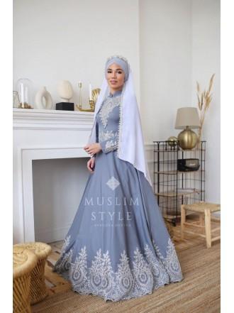 Платье «Великолепный век» в графитовом цвете