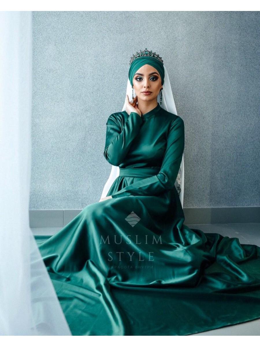 Платье «Нармин» в изумрудном цвете