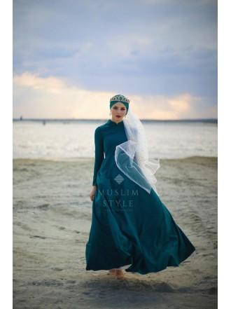 Платье «Амелия» в изумрудном цвете