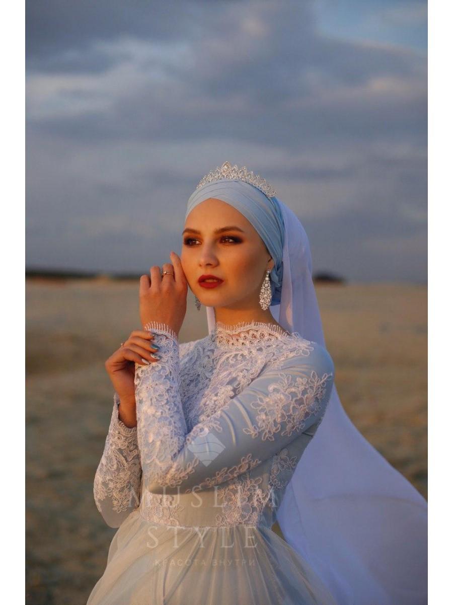 Платье «Ева» голубое