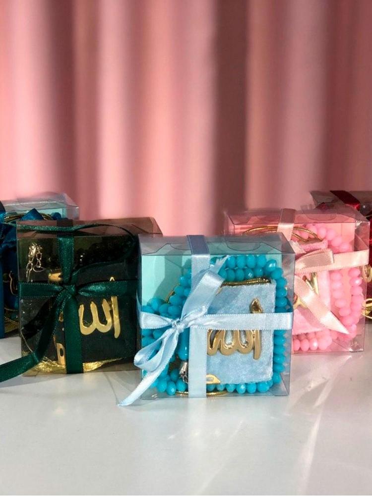 Подарочный набор маленький Коран и четки в коробочке